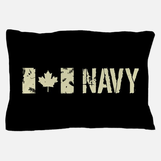 Canadian Flag: Navy Pillow Case