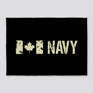 Canadian Flag: Navy 5'x7'Area Rug