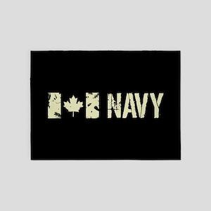 Canadian Flag: Navy 5'x7'Area Rug