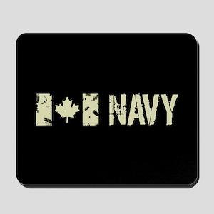 Canadian Flag: Navy Mousepad