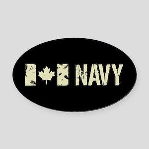 Canadian Flag: Navy Oval Car Magnet