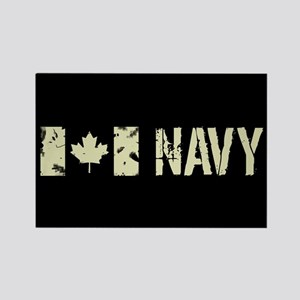 Canadian Flag: Navy Rectangle Magnet