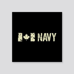 """Canadian Flag: Navy Square Sticker 3"""" x 3"""""""