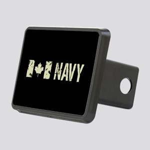 Canadian Flag: Navy Rectangular Hitch Cover