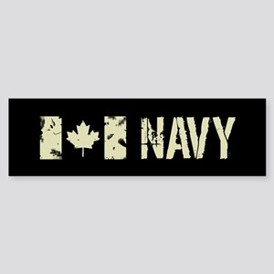Canadian Flag: Navy Sticker (Bumper)