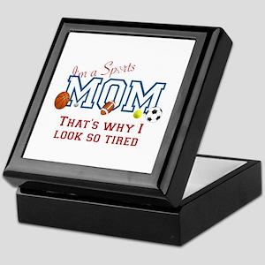 I'M A SPORTS MOM - BASEBALL, FOOTBALL Keepsake Box