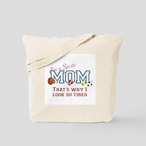 I'M A SPORTS MOM - BASEBALL, FOOTBALL, SO Tote Bag