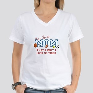 I'M A SPORTS MOM - BASEBALL Women's V-Neck T-Shirt