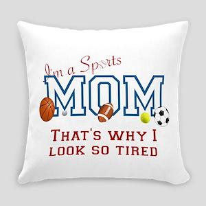 I'M A SPORTS MOM - BASEBALL, FOOTB Everyday Pillow