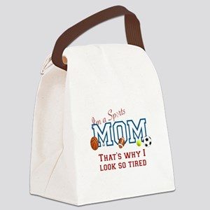I'M A SPORTS MOM - BASEBALL, FOOT Canvas Lunch Bag