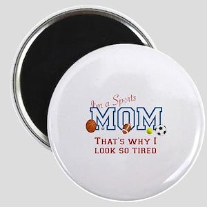 I'M A SPORTS MOM - BASEBALL, FOOTBALL, SOCC Magnet