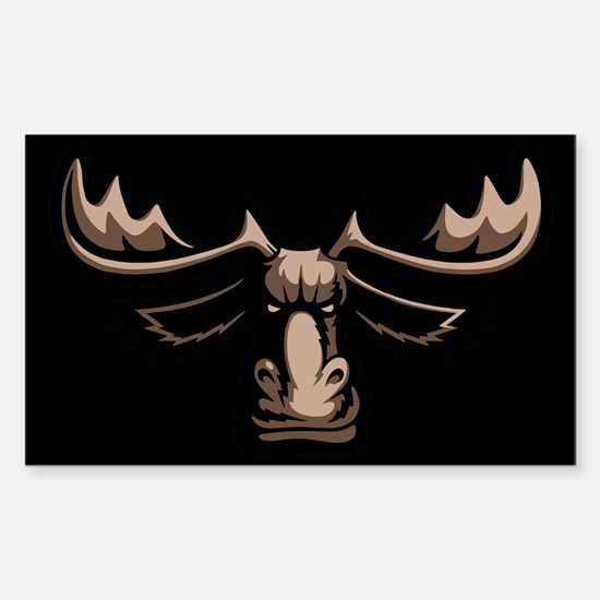 Mad Moose Sticker (Rectangle)