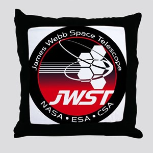 JSWT NASA Program Logo Throw Pillow