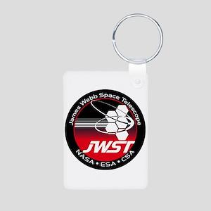 JSWT NASA Program Logo Aluminum Photo Keychain