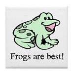 Cute Frogs are Best Love Frog Tile Coaster