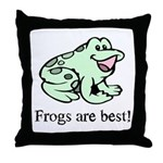 Cute Frogs are Best Love Frog Throw Pillow