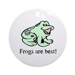 Cute Frogs are Best Love Frog Ornament (Round)