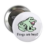 Cute Frogs are Best Love Frog Button