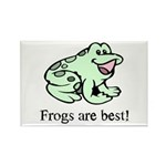 Cute Frogs are Best Love Frog Rectangle Magnet (10