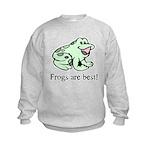 Cute Frogs are Best Love Frog Kids Sweatshirt