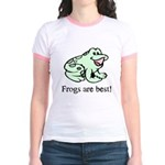 Cute Frogs are Best Love Frog Jr. Ringer T-Shirt