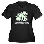 Cute Frogs are Best Love Frog Women's Plus Size V-