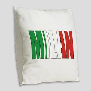 Milan Burlap Throw Pillow