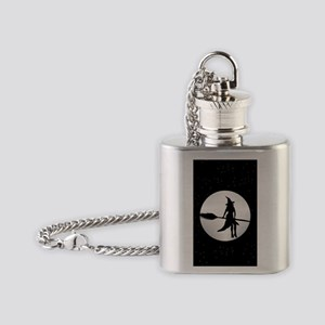 creepy witch Flask Necklace