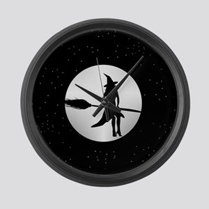 creepy witch Large Wall Clock