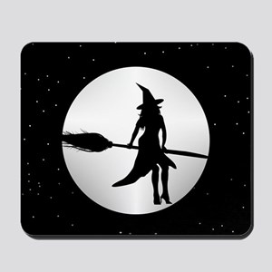 creepy witch Mousepad