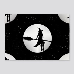 creepy witch 5'x7'Area Rug