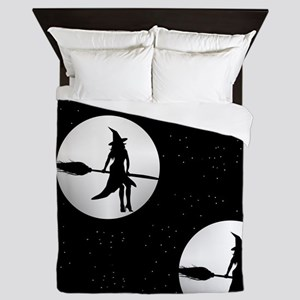 creepy witch Queen Duvet