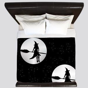 creepy witch King Duvet