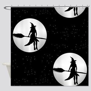 creepy witch Shower Curtain