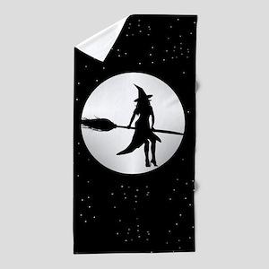 creepy witch Beach Towel
