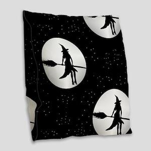 creepy witch Burlap Throw Pillow