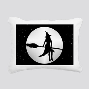 creepy witch Rectangular Canvas Pillow