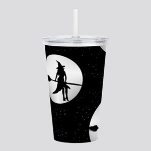 creepy witch Acrylic Double-wall Tumbler