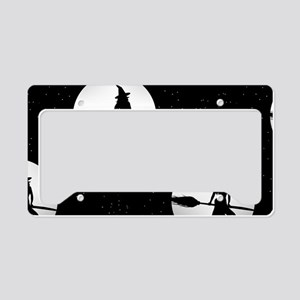 creepy witch License Plate Holder