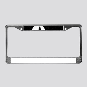 creepy witch License Plate Frame
