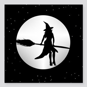 """creepy witch Square Car Magnet 3"""" x 3"""""""