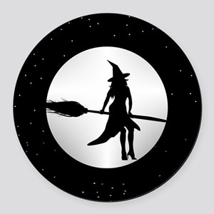 creepy witch Round Car Magnet