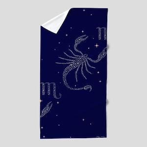 stars scorpio Beach Towel