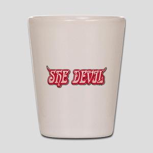 She Devil Shot Glass