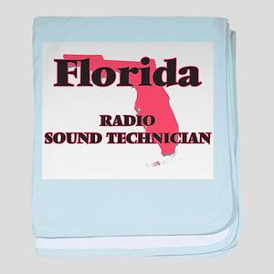 Florida Radio Sound Technician baby blanket