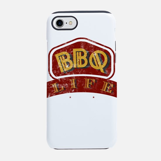 Vintage Distressed BBQ Life Logo For Barbecue Fans