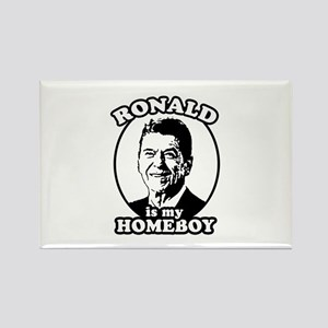 Ronald Reagan is my homeboy Rectangle Magnet