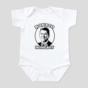 Ronald Reagan is my homeboy Infant Bodysuit