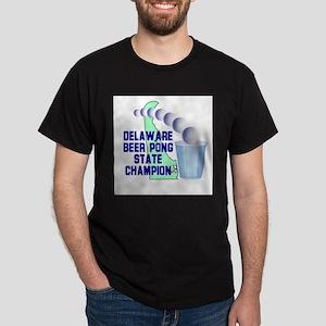 Delaware Beer Pong State Cham Dark T-Shirt