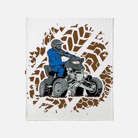 Off Road ATV 4X4 Throw Blanket